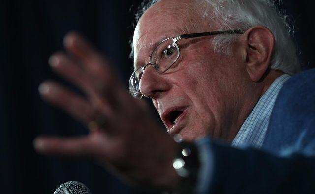 Bernie Sanders je prejel 26,1 odstotka glasov. FOTO: AFP