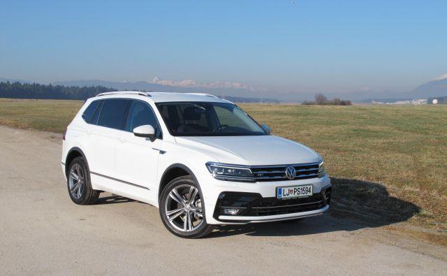 Volkswagen tiguan allspace je nekoliko podaljšana različica sicer dobro znanega športnega terenca. FOTO: Blaž Kondža