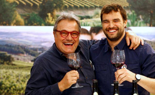 Oliviero Toscani (levo) na fotografiji s sinom Roccom. FOTO: Stefano Rellandini/Reuters