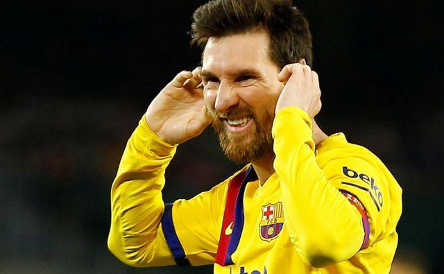 Lionel Messi resda ni dosegel gola v Sevilli, toda Barcelona je premagala Betis (2:3) tudi s pomočjo treh njegovih asistenc. FOTO: Reuters