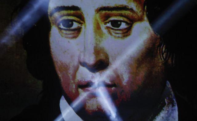 Poznič je ob poklonu <strong>Francetu Prešernu</strong> dejal, da naš veliki pesnik ni samo temelj, kdo smo bili in kaj smo. FOTO: Uroš Hočevar/Delo
