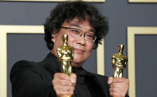 V vsej 92-letni zgodovini podeljevanja filmskih nagrad kipca za najboljši film še nikoli ni prejel tuji film tujega režiserja.FOTO: Lucas Jackson/Reuters