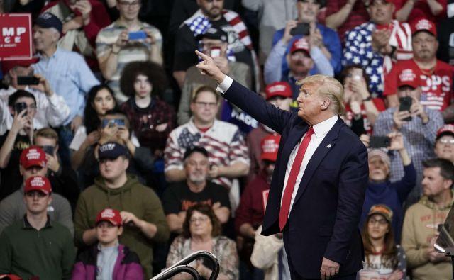 V New Hampshiru je nastopil tudi republikanski predsednik Donald Trump.FOTO: Drew Angerer/Afp