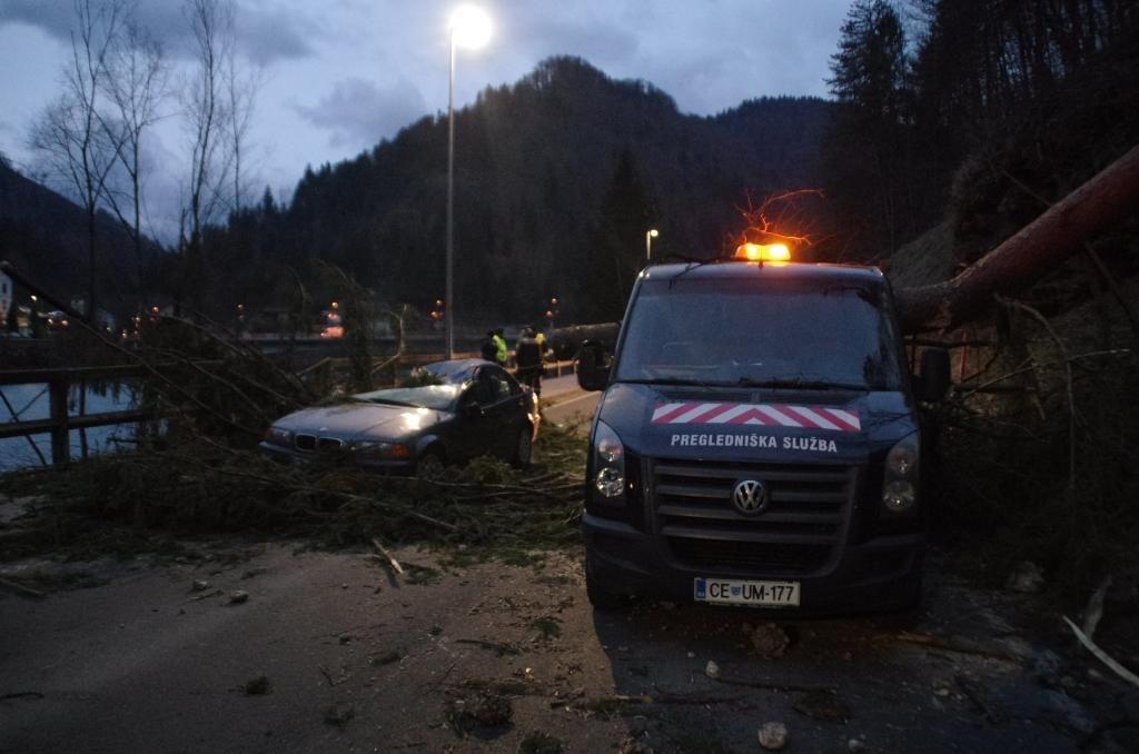FOTO:Zaradi vetra zabeležili že 580 dogodkov, ki so zahtevali intervencije