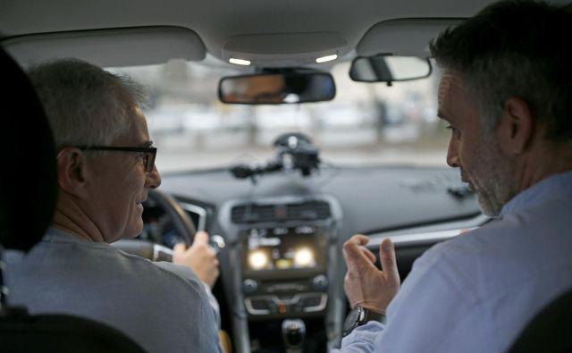 Ponovitev izpitne vožnje kot del akcije preizkusa vozniških navad Slovencev. FOTO: Blaž Samec