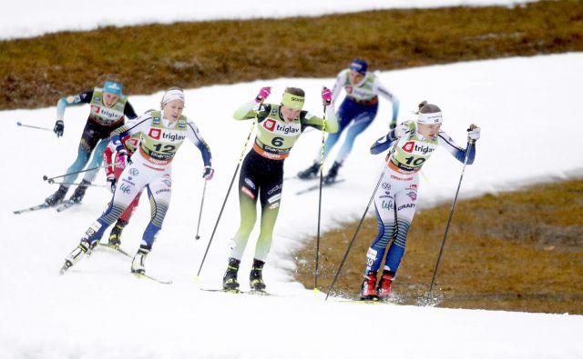 Tako so tekaške proge v Planici usposobili za tekmovanja konec lanskega leta. Foto: Roman Šipić