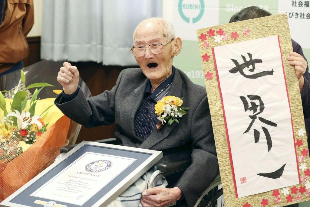Najstarejši moški na svetu je Japonec, 112-letni Čitecu Vatanabe