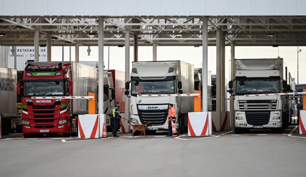FOTO:Prevozniki upajo, da bo ureditev na mejah Velike Britanije ostala taka, kot je