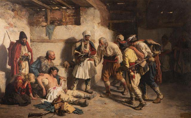 Paja Jovanović, Smrt Črnogorca, 1882 Fotografije Arhiv Galerije Srbske Matice