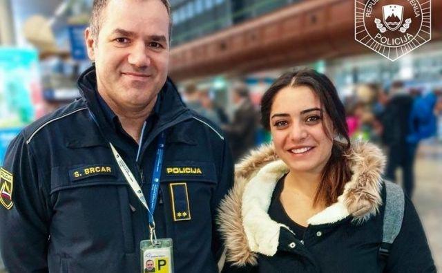 Policisti so pogumno Turkinjo našli na Brniku. FOTO: PU Kranj / facebook