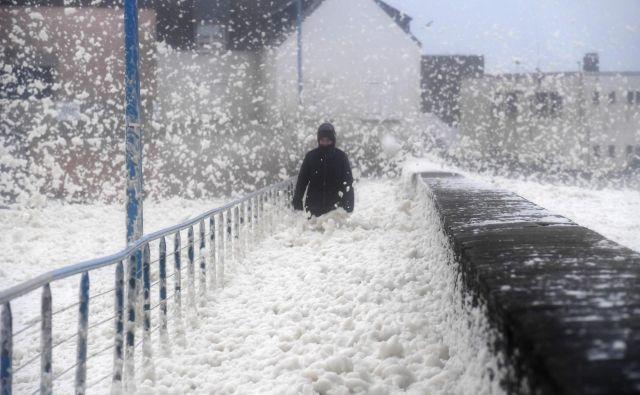 Pred tednom dni je bila Velika Britanija priča nevihti Ciara.FOTO: Fred Tanneau/Afp