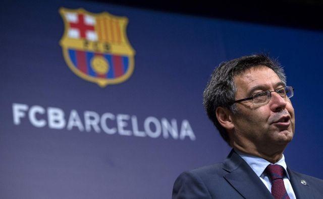 Josep Maria Bartomeu (Barcelona) je predsednik nogometnega kluba, ki ustvari največ prihodkov med vsemi v Evropi. FOTO: AFP