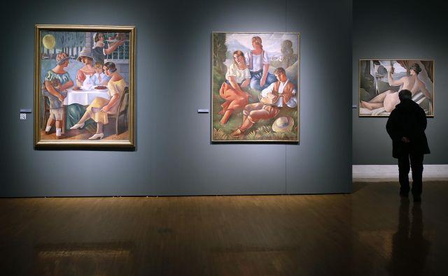 Razstava Srbski modernizem v Narodni galeriji Foto Blaž� Samec