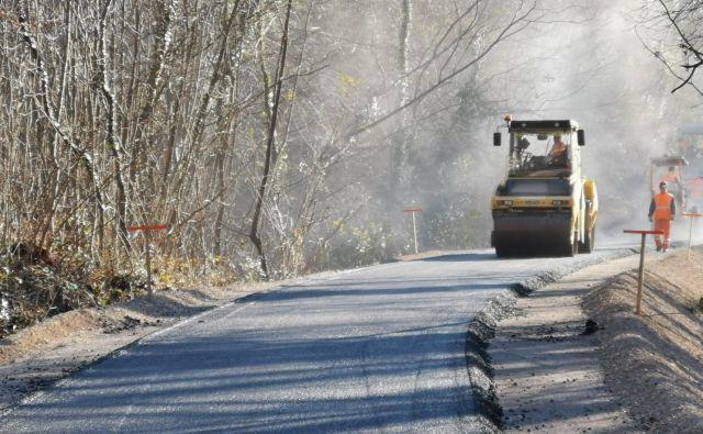 Dostopna cesta v dolini Glinščice je pripravljena, gradnja premostitvenih objektov bi lahko stekla najhitreje marca. Foto Boris Šuligoj