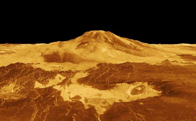 Dve predlagani odpravi imata za cilj slabo raziskano Venero. Računalniška slika površja je sestavljena iz podatkov odprave Magellan. Vir Nasa