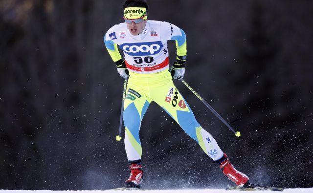 Miha Šimenc se približuje najboljšim, naslednjič si želi v finale šprinta. FOTO: Matej Družnik/Delo