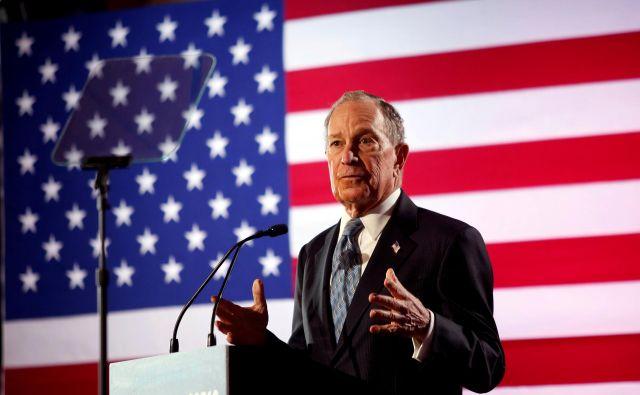 Mike Bloomberg bo nastopil na nocojšnjem televizijskem soočenju v Las Vegasu. FOTO: Reuters