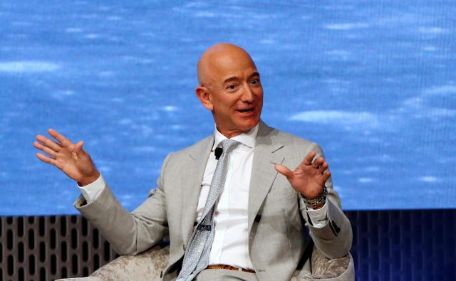 Jeff Bezos bo deset milijard dolarjev daroval za boj proti podnebnim spremembam. FOTO: Katherine Taylor/Reuters