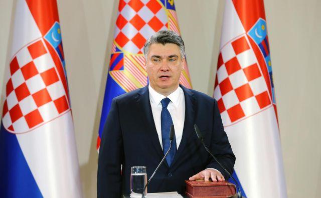Zoran Milanović je zaprisegel kot novi predsednik Hrvaške. FOTO: Antonio Bronic/Reuters