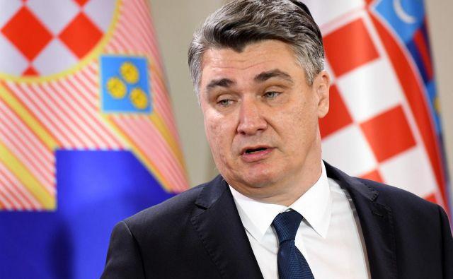 Zoran Milanović je prisegel kot peti predsednik Hrvaške od osamosvojitve sosednje države. FOTO: AFP