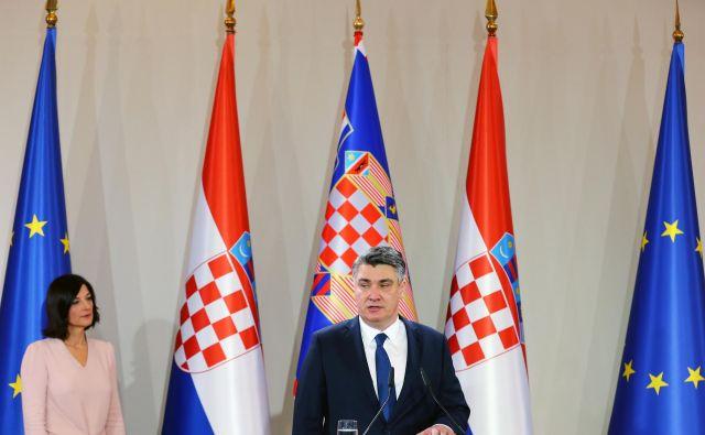 Lahko od novega hrvaškega predsednika <strong>Zorana Milanovića</strong> pričakujejo premik glede reševanja vprašanja arbitražne razsodbe? FOTO: Antonio Bronic/Reuters