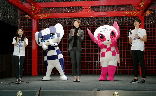 Bosta maskoti olimpijskih iger, Miraitova in Someiti, rešili proizvajalce športne opreme? Foto Reuters