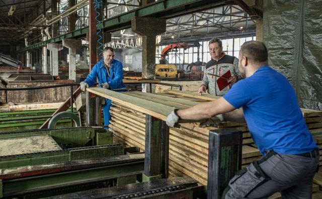 Slovenska lesna industrija povečuje prihodke, dobiček in dodano vrednost. Težava so naraščajoči stroški dela. Foto Voranc Vogel
