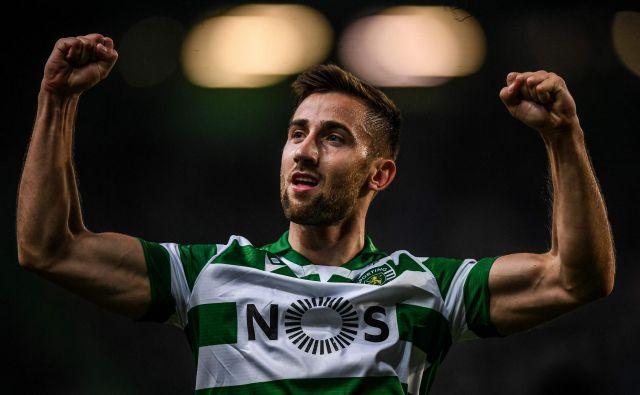 Andraž Šporar je dočakal svoj prvi gol v majici Sportinga. FOTO: AFP