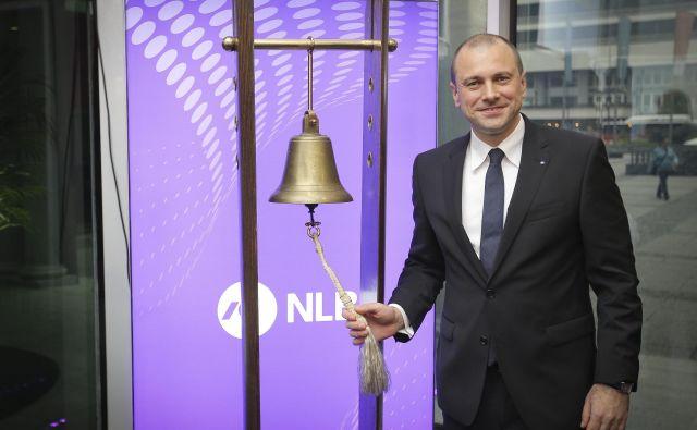 Blaž Brodnjak, predsednik uprave NLB, je oznanil za spoznanje slabše, a še zmeraj robustne poslovne rezultate. Foto Jože Suhadolnik