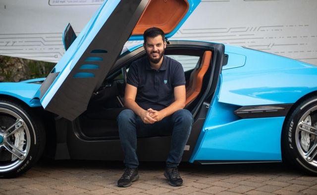 Mate Rimac, evropski Elon Musk, je del uspeha pripeljal tudi v Novo mesto. FOTO: Rimac Automobili