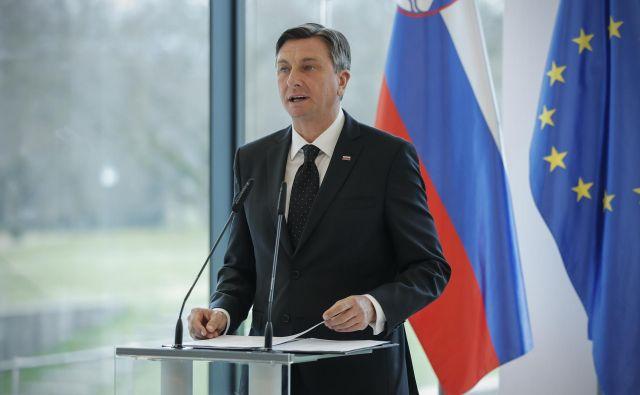 Če se bo Borut Pahor odločil DZ predlagati kandidata za predsednika vlade, se želi prepričati, da ima kandidat zadostno podporo poslank in poslancev državnega zbora, so sporočili. FOTO: Uroš Hočevar