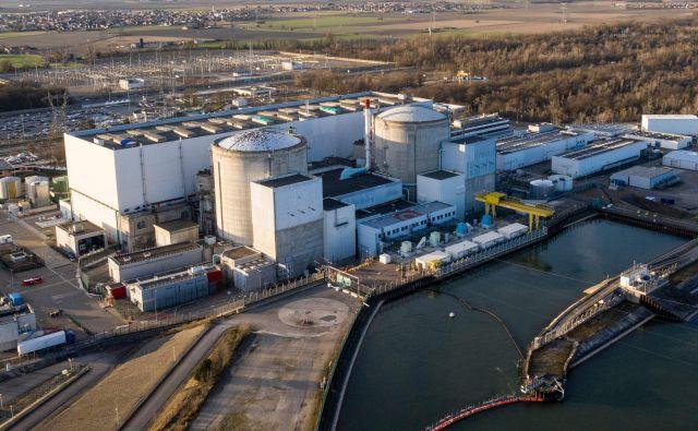 Francija bo jedrsko elektrarno vFessenheimu zaprla po 43 letih delovanja. FOTO:Sebastien Bozon AFP