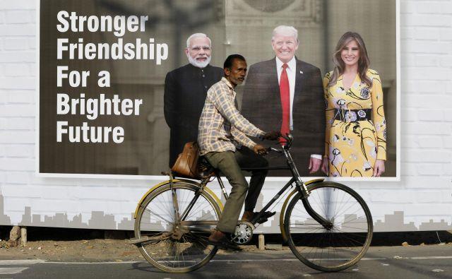 Donald Trump bo s prvo damo Melanio obiskal Delhi, Agro in Ahmedabad v Modijevi državi Gudžarat. Foto: Reuters