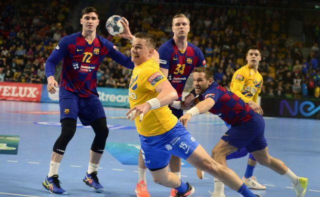 Vid Poteko in njegovi so dobro odprli tekmo z Barcelono, ki je vseeno dosegla najvišjo zmago v Zlatorogu. FOTO: Slavko Kolar