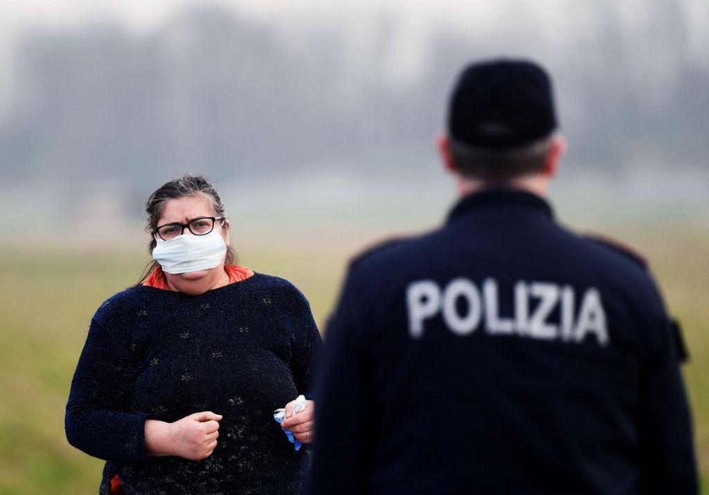 FOTO:Koronavirus v Italiji zahteval tretjo smrtno žrtev, v Bruslju na preži