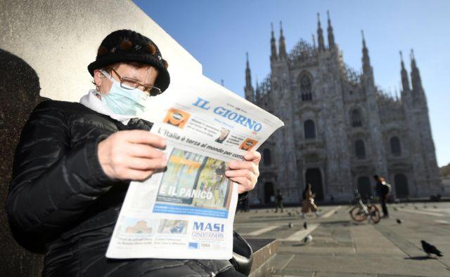 Koronavirus je v Italiji zahteval štiri življenja. FOTO: Flavio Lo Scalzo/Reuters