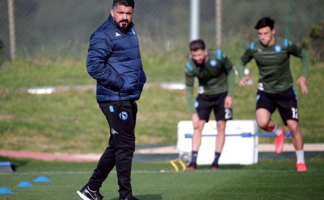 Gennaro Gattuso pripravlja svoje izbrance za pravi moški spopad z igralci Barcelone. FOTO: Reuters