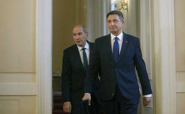 Predsednik Borut Pahor je v državni zbor že poslal predlog, da za novega predsednika vlade izvoli Janeza Janšo, prvaka SDS. FOTO: Blaž Samec