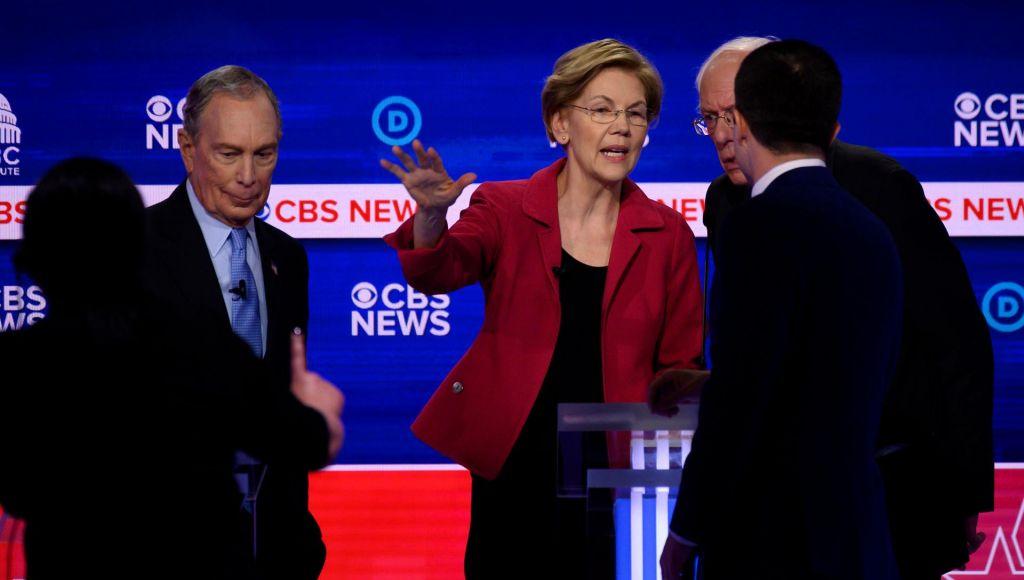 FOTO:Sanders, Warrenova, Bloomberg in drugi v boju za demokratsko pamet in srca