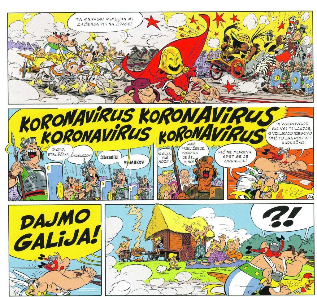 Asterix in Koronavirus se poznata že tri leta