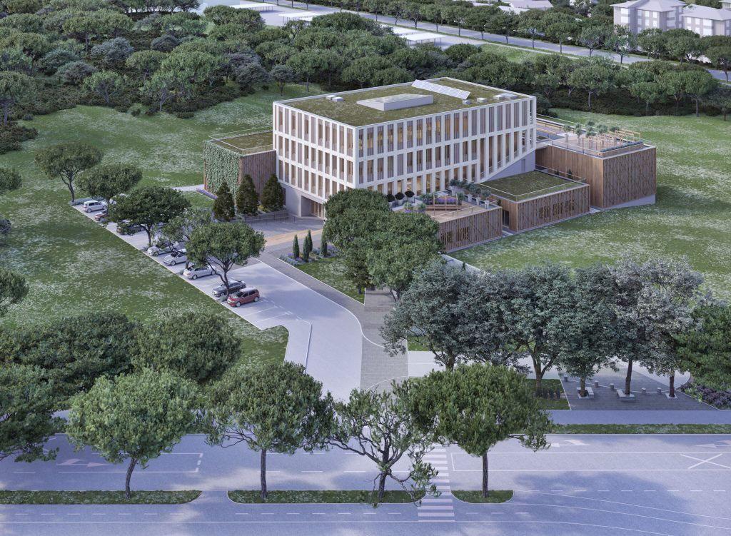 Gradnja največje lesene stavbe v Sloveniji se nadaljuje