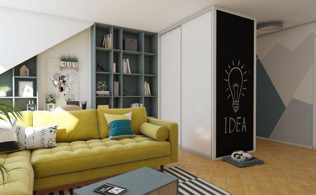 Na novo opremljena dnevna soba Foto Tjaša Justin/akron