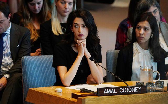 Odvetnica za človekove pravice Amal Clooney bo zastopala Rohingje. FOTO: Carlo Allegri/Reuters