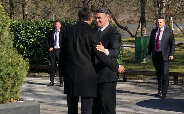 Dva stara znanca, oba socialdemokrata in oba nekdanja premiera svojih držav, se dobro poznata. FOTO: Novica Mihajlović