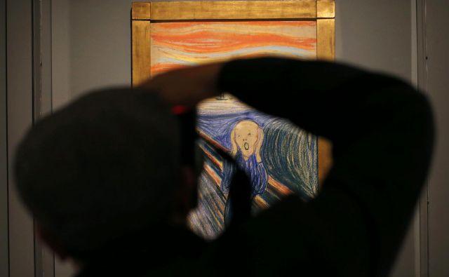Zdi se, da je Edvard Munch s <em>Krikom</em>, s tem dolgim, neutolažljivim in tako neslišno glasnim izrazom strahu napovedal 20. stoletje. FOTO: Mike Segar/Reuters