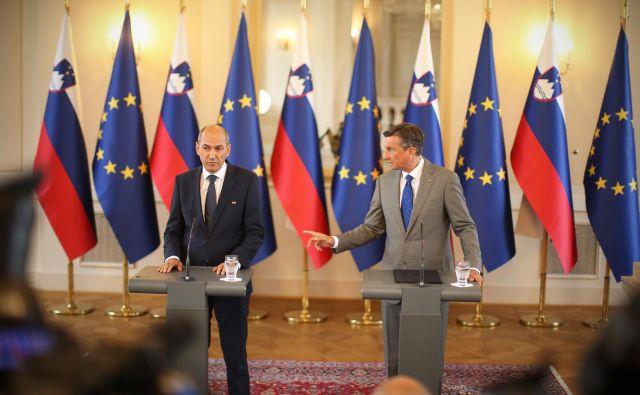 Borut Pahor od nove ministrske ekipe, ki jo bo vodil Janez Janša, pričakuje, da se bo vzdržala žaljivih in sovražnih izjav.<br /> Foto: Blaž Samec/Delo