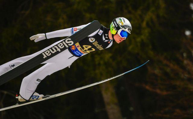 Anže Lanišek je bil najboljši Slovenec v Lahtiju. FOTO: AFP