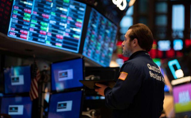 Newyorška borza NYSE včeraj. FOTO: Johannes Eisele/AFP