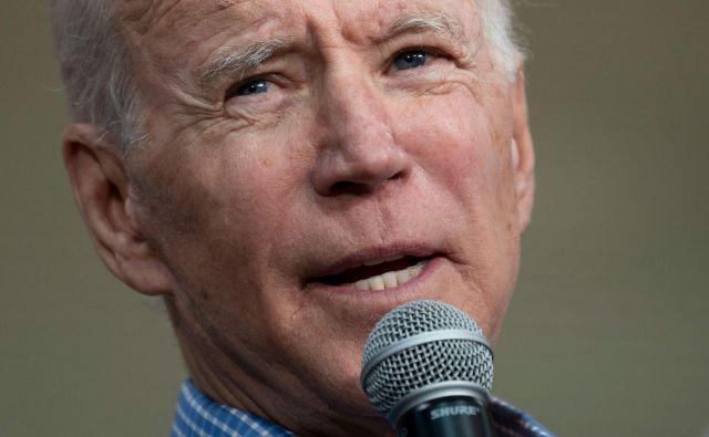 Končno dobra uvrstitev na demokratskih volitvah za nekdanjega podpredsednika Joeja Bidna. Foto Jim Watson Afp