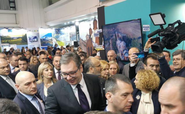 Aleksandar Vučić, srbski predsednik, je odletel v ZDA. FOTO: Milena Zupanič